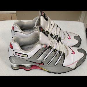 Nike Shoxs Women Sneakers White Gray 9